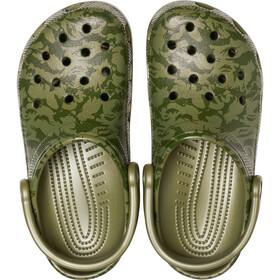 Crocs Classic Printed Camo Sko, army green